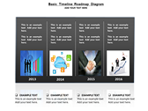 Basic Timeline Roadmap Diagram ppt templates
