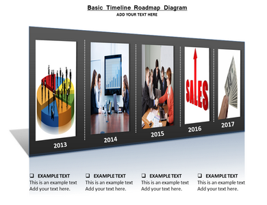Basic Timeline Roadmap Diagram Powerpoint Templates