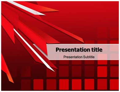 Abstract Red Powerpoint Templates