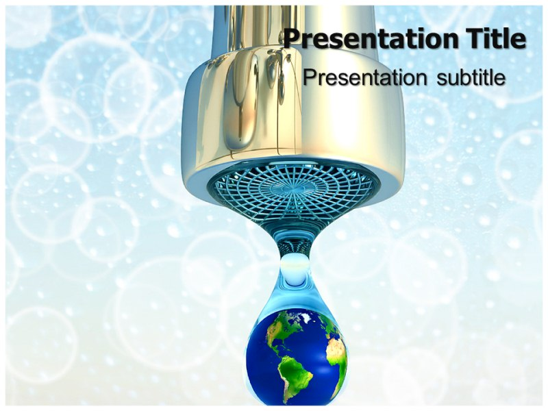 Save Water Powerpoint Templates Powerpoint Presentation On Save