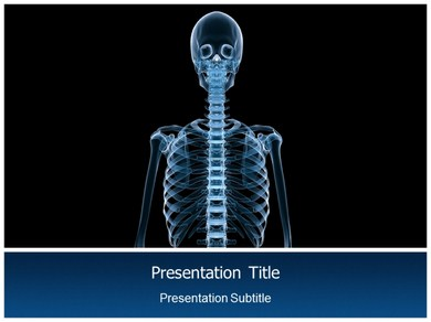 Human skeleton Facts Powerpoint Templates