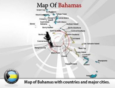 Map of Bahamas  PowerPoint Templates