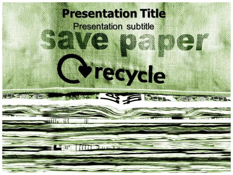 save PaperPowerpoint Template