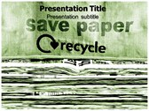 save Paper powerPoint template