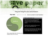 save Paper powerPoint background