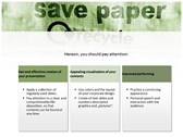 save Paper power Point Backgrounds