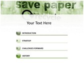 save Paper powerpoint template download
