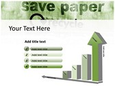 save Paper backgroundPowerPoint Templates