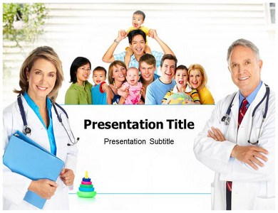 family healthcare (ppt) powerpoint templates | powerpoint, Modern powerpoint