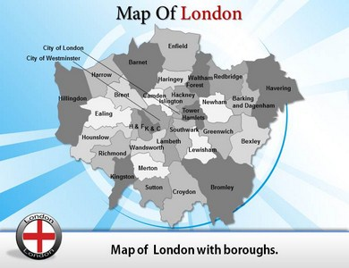 London City Map  PowerPoint Templates