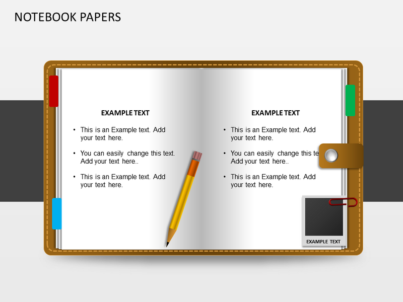 Notebooks Papers Powerpoint Template Notebooks Papers Ppt Template