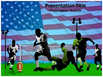 American Football 1 Powerpoint Templates