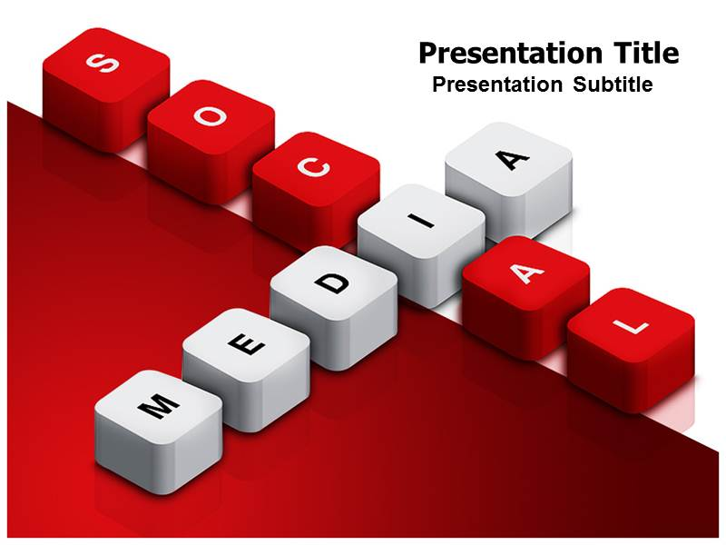 social media powerpoint (ppt) template | social media powerpoint, Presentation templates