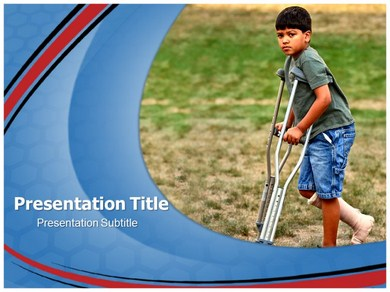 Crutches and Canes Powerpoint Templates