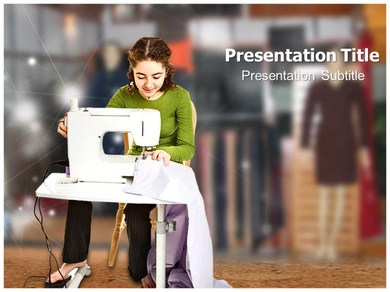Sewing Machine Powerpoint Templates