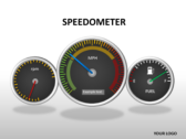 Speedometer powerPoint template