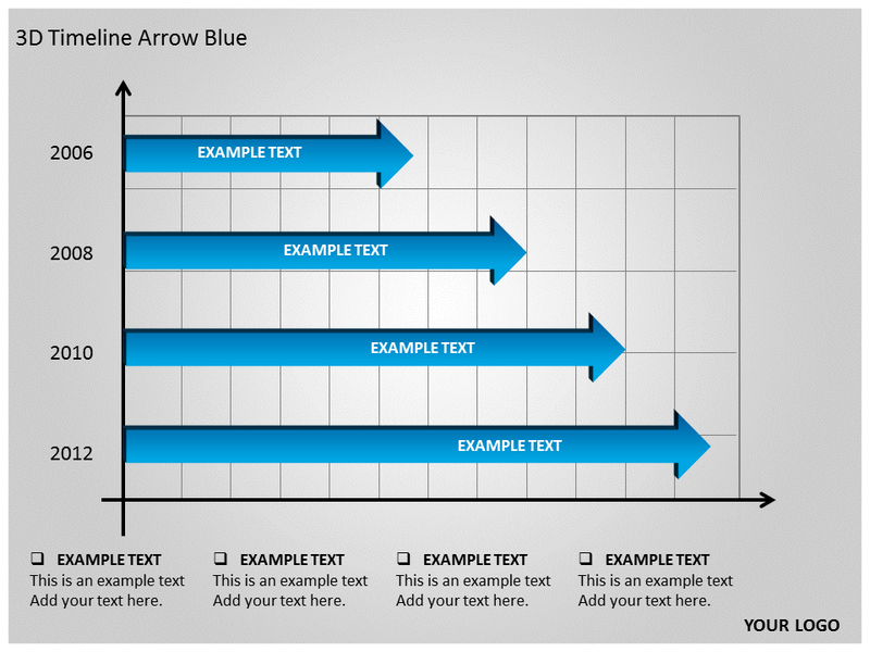 3d timeline arrow blue powerpoint template ppt 3d timeline arrow my toneelgroepblik Gallery