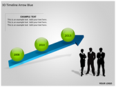 3D Timeline Arrow Blue powerPoint background