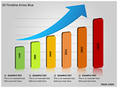 3D Timeline Arrow Blue ppt templates