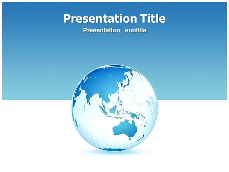 interpenetrating crystal lattices powerpoint template | globe, Powerpoint templates