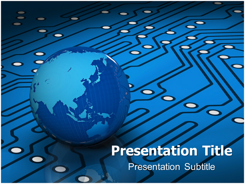 get animated electronic world powerpoint template