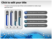 Electronic World powerpoint theme professional