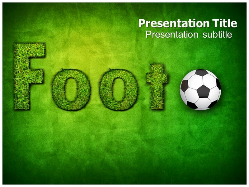 Powerpoint Templateppt Of Football Sports Football Ground