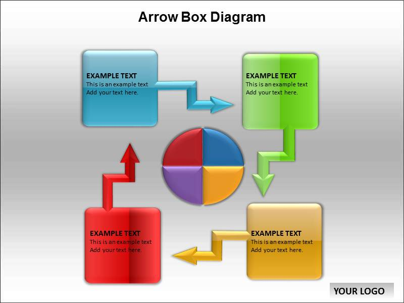 Arrow Box Diagram Powerpoint Templates