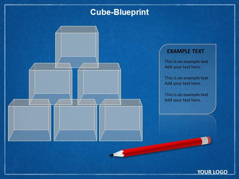 Cube blueprint chart powerpoint template cube ppt slides download malvernweather Images