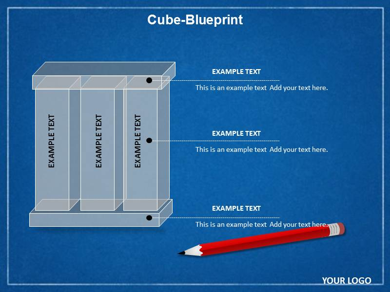 Cube Blueprint Chart Powerpoint Templates