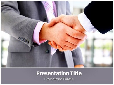 Handshake Pose Powerpoint Templates