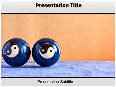Chinese Therapy Balls 1 Powerpoint Templates
