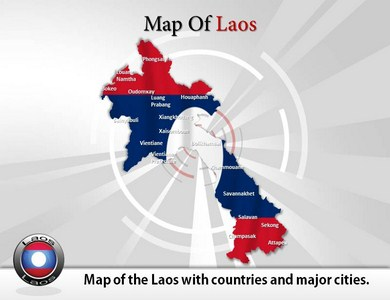 Map of Laos  PowerPoint Templates