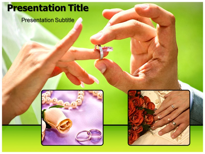 Wedding Ring Powerpoint Templates