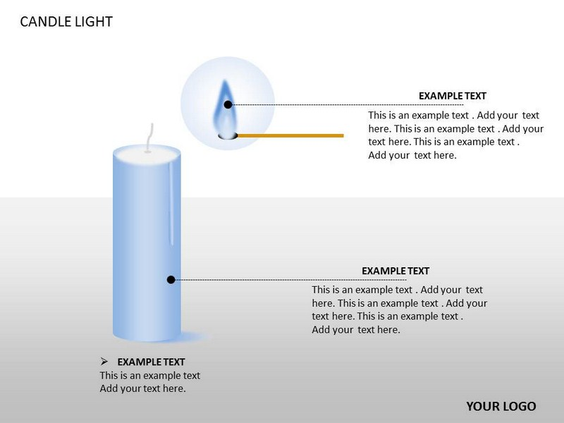 Candle Light Charts Powerpoint Templates