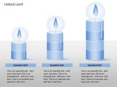 Candle Light Charts power Point templates