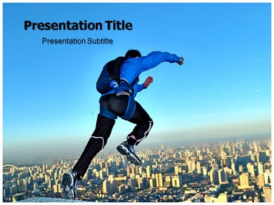 Base Jumping Powerpoint Templates