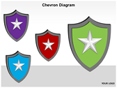 Chevron Diagram 3D powerPoint background