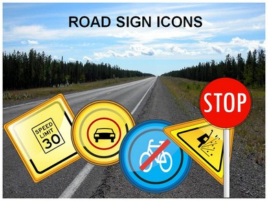 road signs powerpoint (ppt) templates | road signs powerpoint, Powerpoint templates