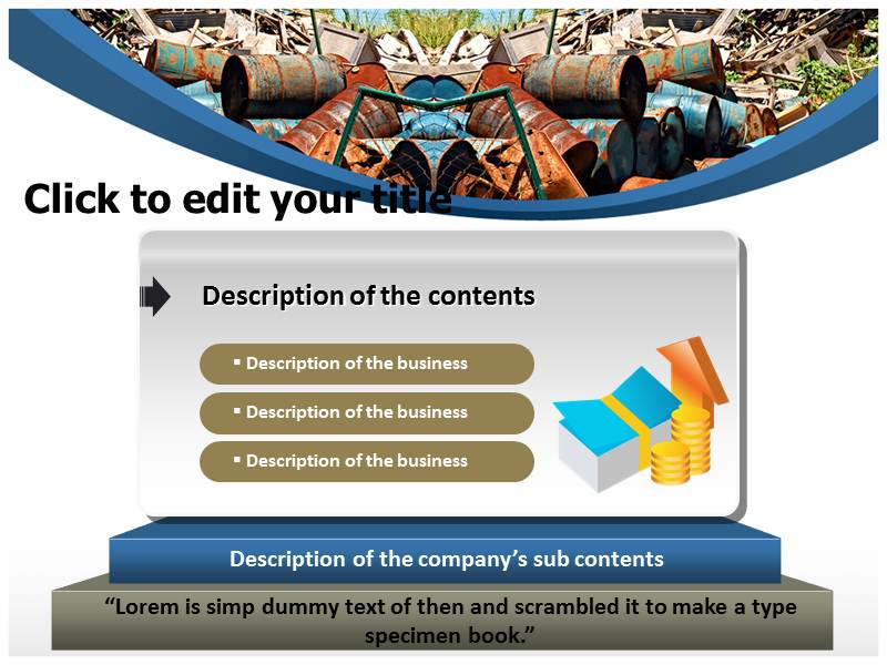 Solid Waste 1 Powerpoint Templates