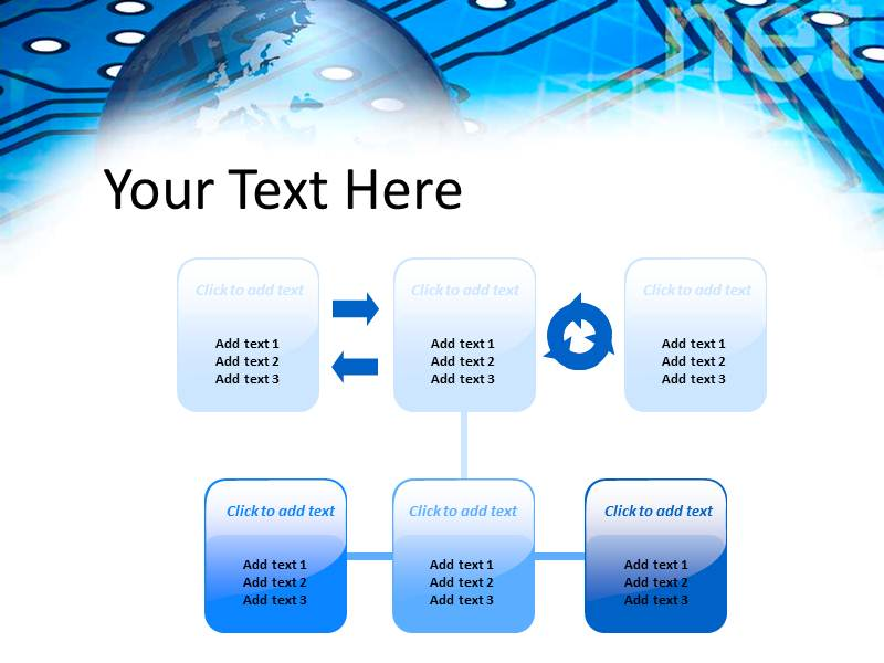Digital world  Powerpoint Templates