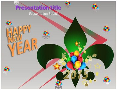 Happy New Year 2015 Powerpoint Templates