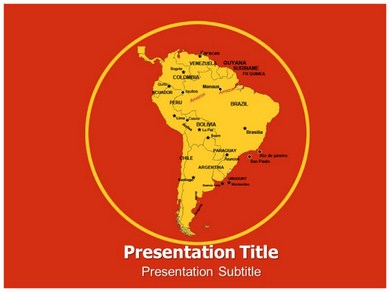 South America Images Powerpoint Templates