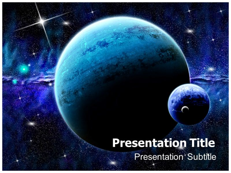 space & planet powerpoint templates | powerpoint presentation on, Presentation templates