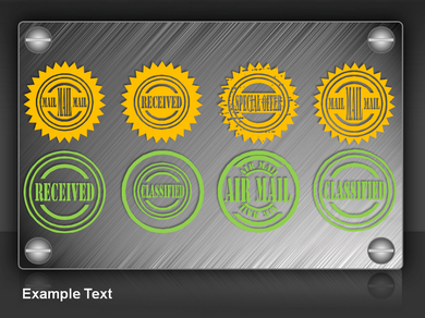 Stamps And Seals Powerpoint Templates