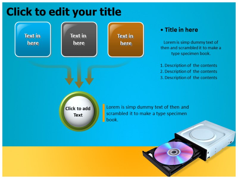 Optical drive Powerpoint Templates