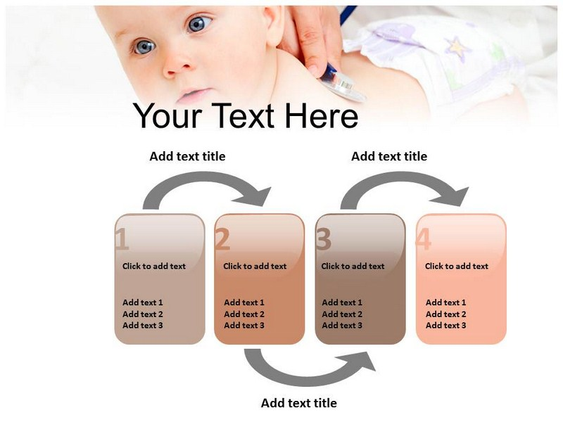 pediatric powerpoint template, ppt backgrounds on child care, Modern powerpoint