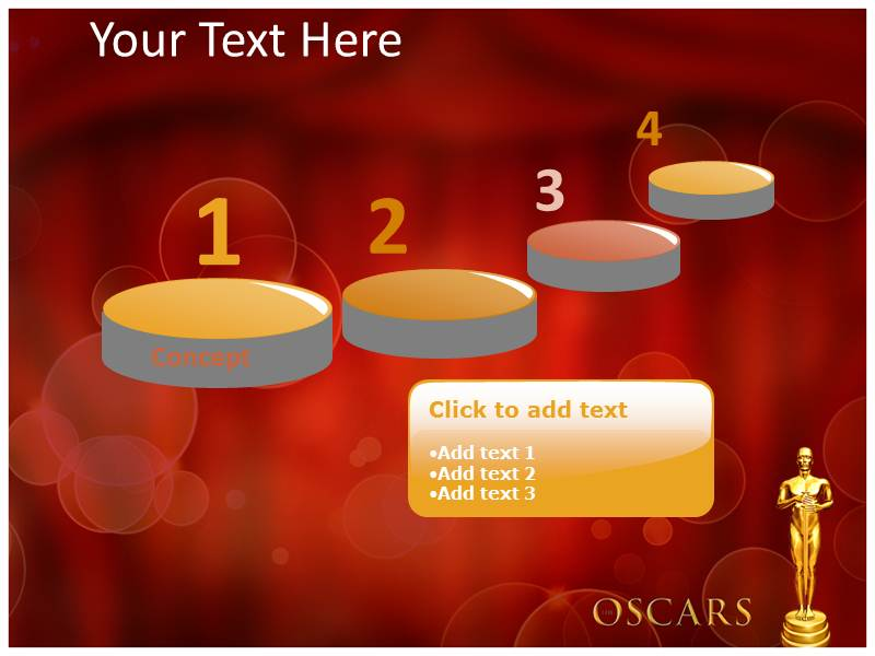 oscar awards powerpoint template, powerpoint background, Modern powerpoint