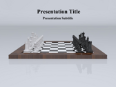 3D Chess powerPoint template