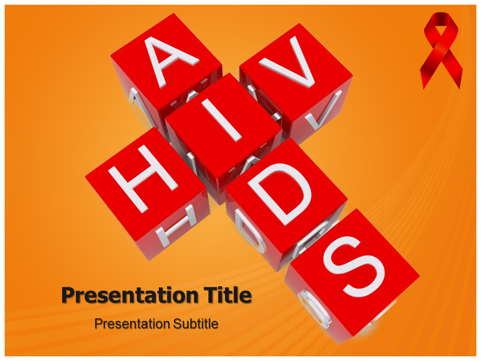 Hiv powerpoint templates   powerpoint presentation on hiv template.